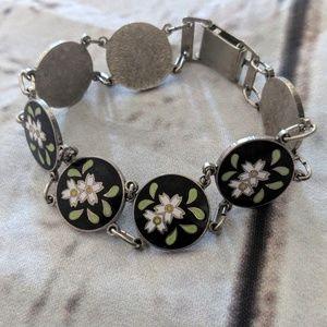 Vintage cloisonne bracelet boho hippie